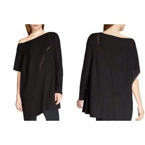 Halston Heritage Ribbed Open Weave Sweater